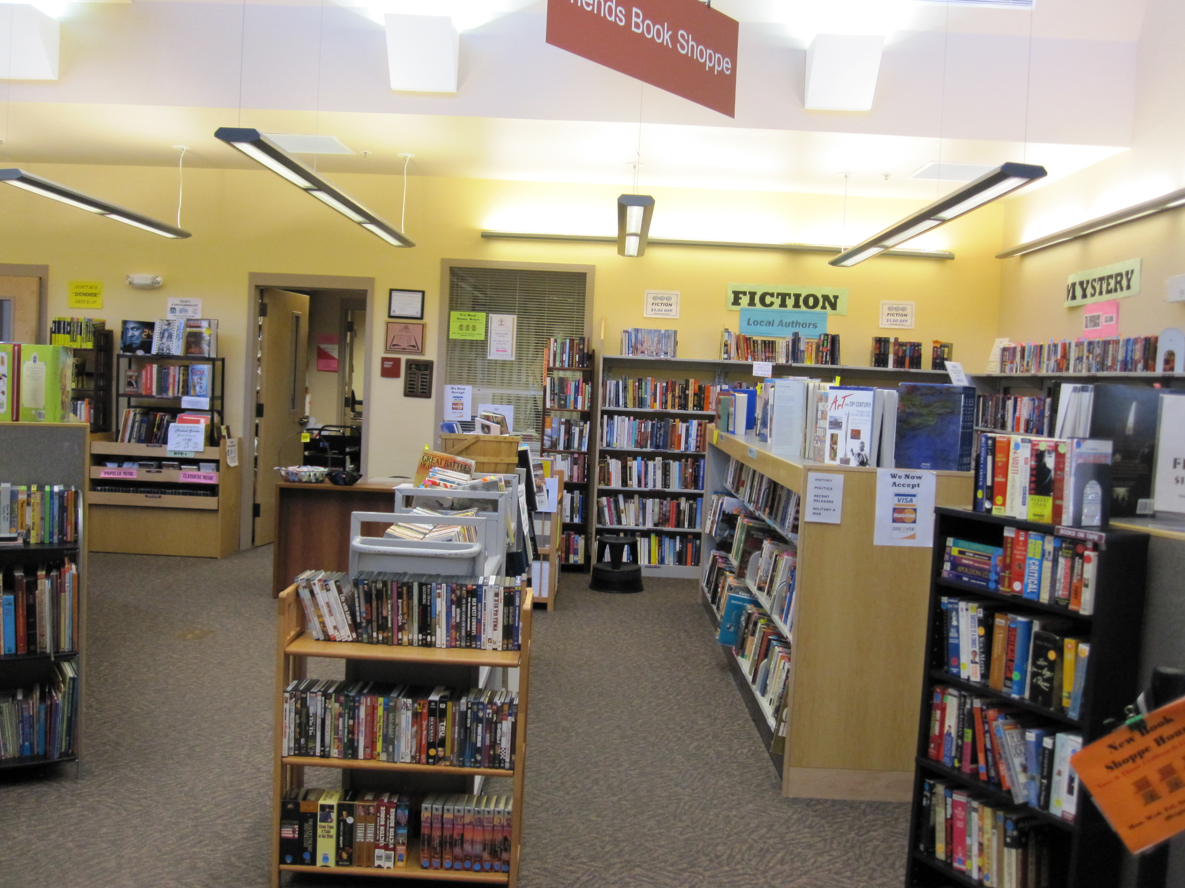 The Friends Book Shoppe has more than 8,000 books from which to choose.