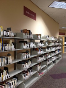 The Books on Hold area of the Library was provided by donations made to the Friends