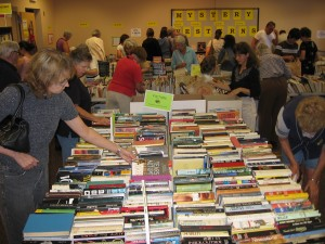 Lots of happy shoppers – and all funds go directly to support the Library