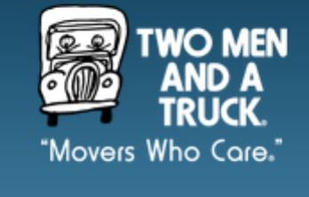 Thanks to Two Men and A Truck for donating moving services